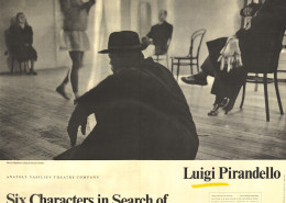 six characters in search of an author essay questions Pirandello: a theatrical philosopher essay - luigi pirandello's six characters in search of an author, is a unique and passionate play in which the dynamics of the theater are uprooted, deconstructed, and questioned for their validity and integrity.